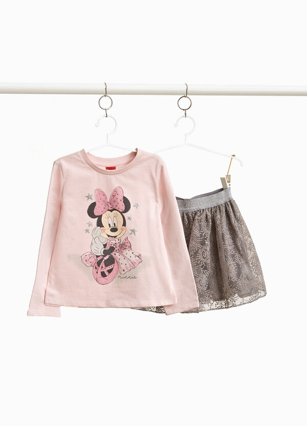 Garnitur Minnie T-Shirt und Rock