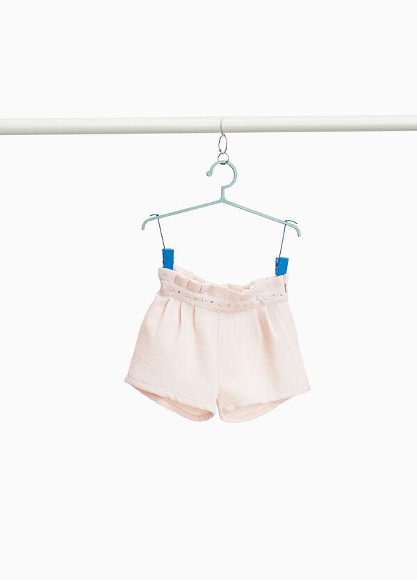 Shorts mit Strass und Volant