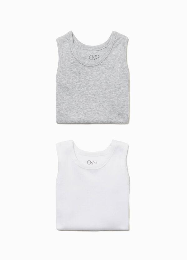 Set zwei Unterhemden Rundhalsausschnitt