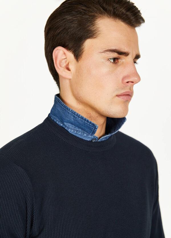 Pullover aus reiner Trikotbaumwolle