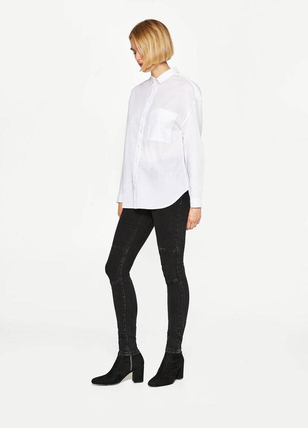 Hemd aus reiner Baumwolle mit Tasche   OVS
