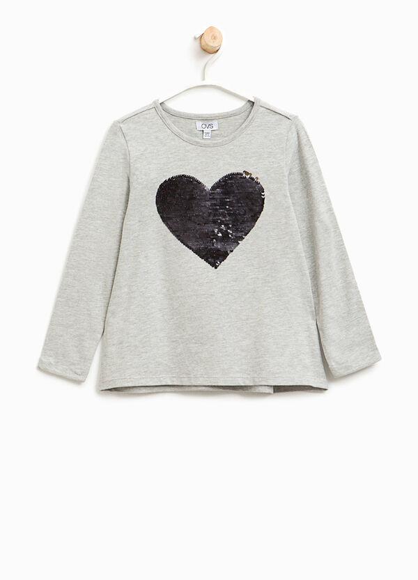 T-Shirt aus Baumwolle mit Pailletten   OVS