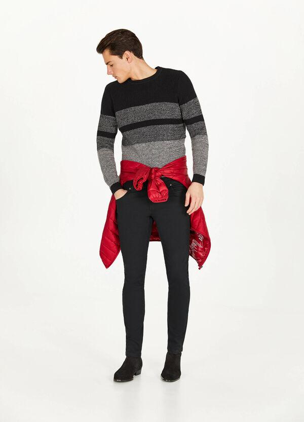 Pullover aus reiner Baumwolle Streifenmuster