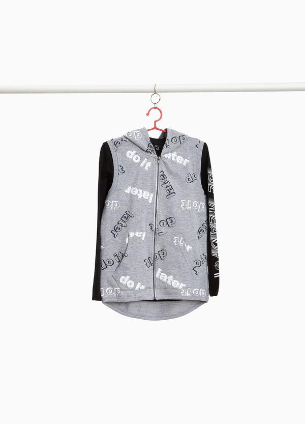Garnitur ärmelloses Sweatshirt und T-Shirt gemustert