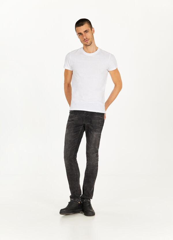 Stretch-Jeans Slim Fit Effekt-Färbung