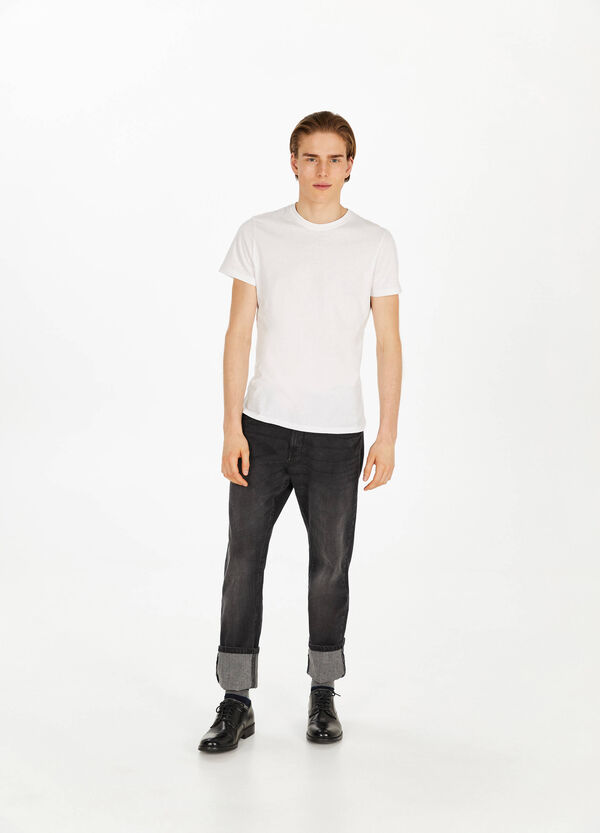 Stretch-Jeans Comfort Fit mit Whiskering