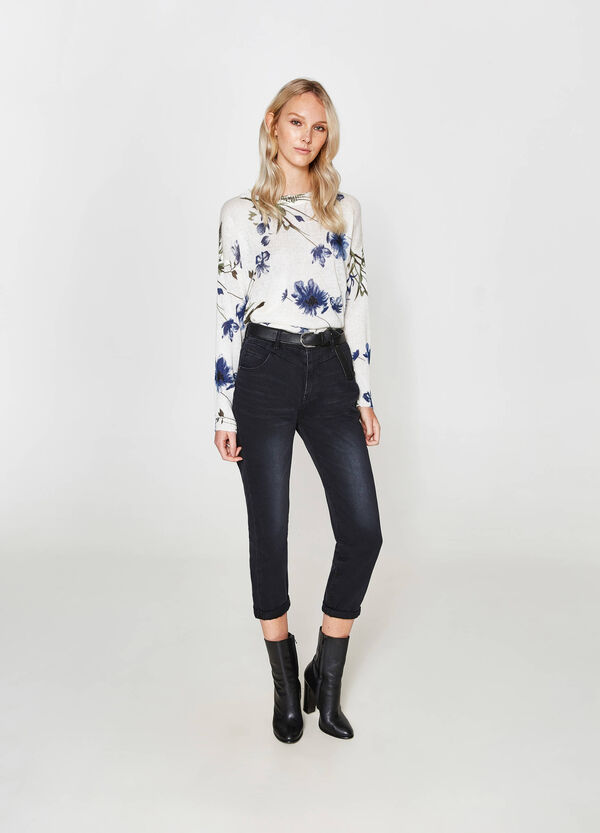 Pullover Mohair-Mix floral