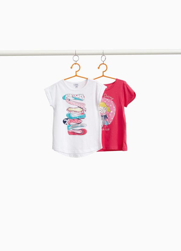 Set zwei T-Shirt Baumwolle Schuhe und Girl