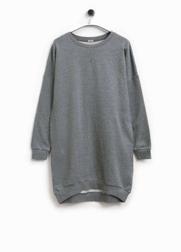 Langes Sweatshirt aus reiner Baumwolle Smart Basic | OVS