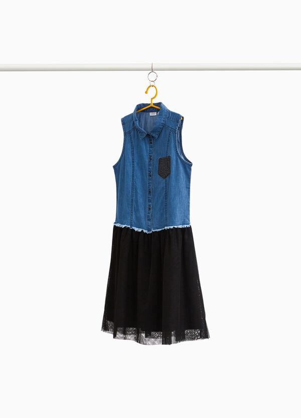 Jeans-Kleidchen Tüllrock