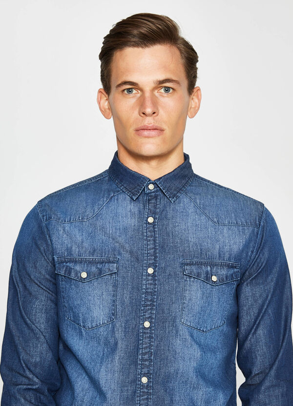 Casual-Jeans-Hemd mit Washed-out-Effekt | OVS