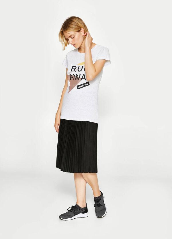 T-Shirt aus reiner Baumwolle mit Aufdruck   OVS