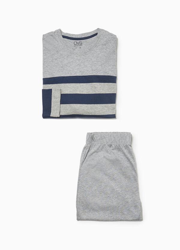 Pyjama Baumwollmix mit Streifen