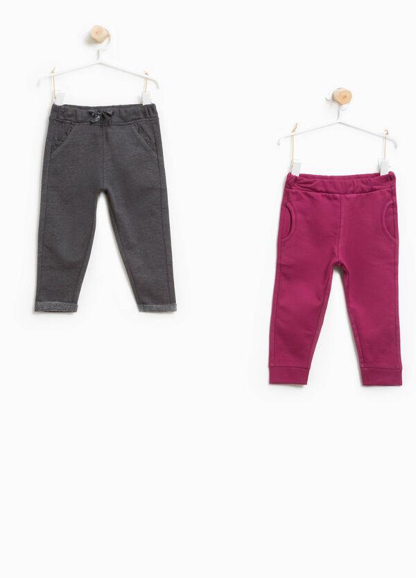 Set zwei einfarbige Hosen reine Baumwolle