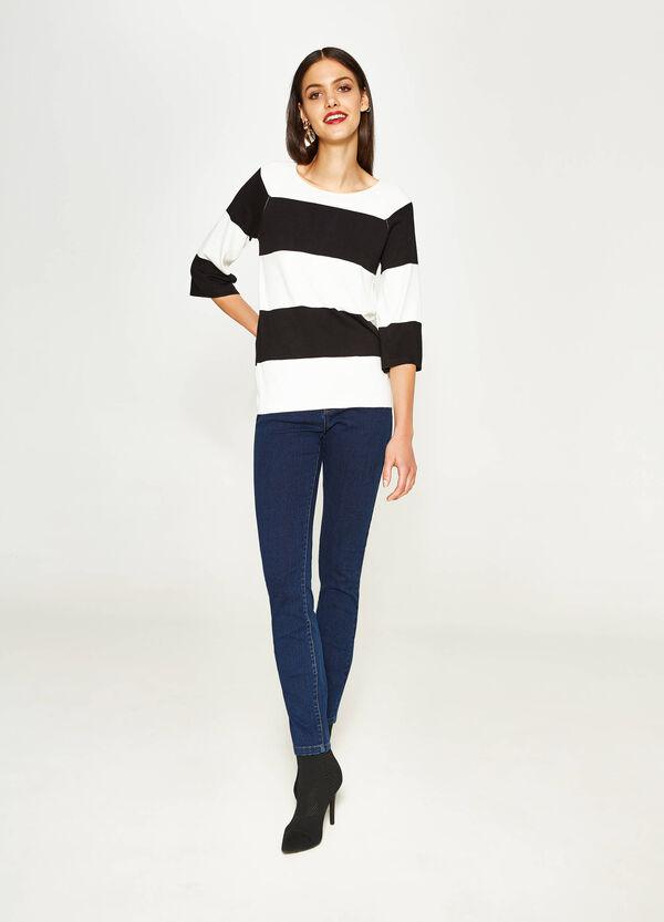 Einfarbige Stretch-Jeans Skinny Fit | OVS