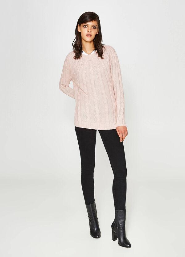 Rollkragen-Pullover mit Trikot-Verarbeitung | OVS
