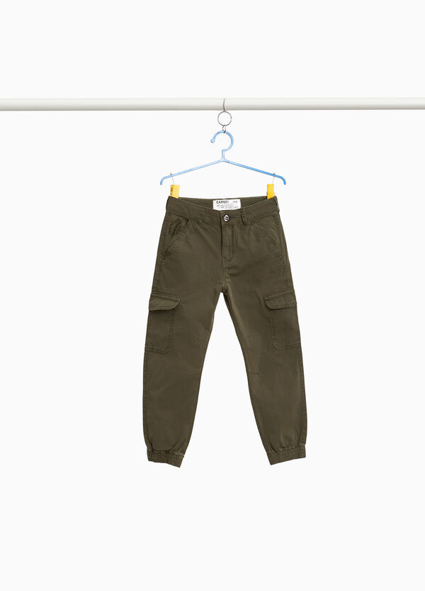 Chino-Hose Cargo Baumwollstretch