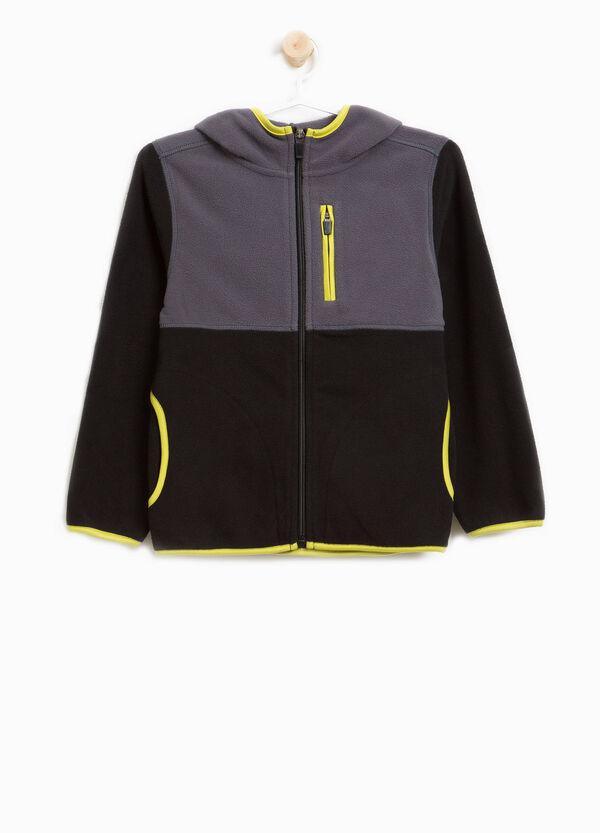 Sweatshirt zweifarbig mit Taschen und Profilen | OVS