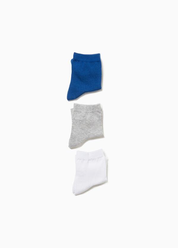 Set drei Paar einfarbigen Stretch-Strümpfen