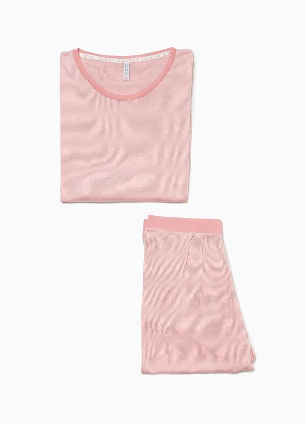 Pyjama reine Viskose mit Mikrostreifen