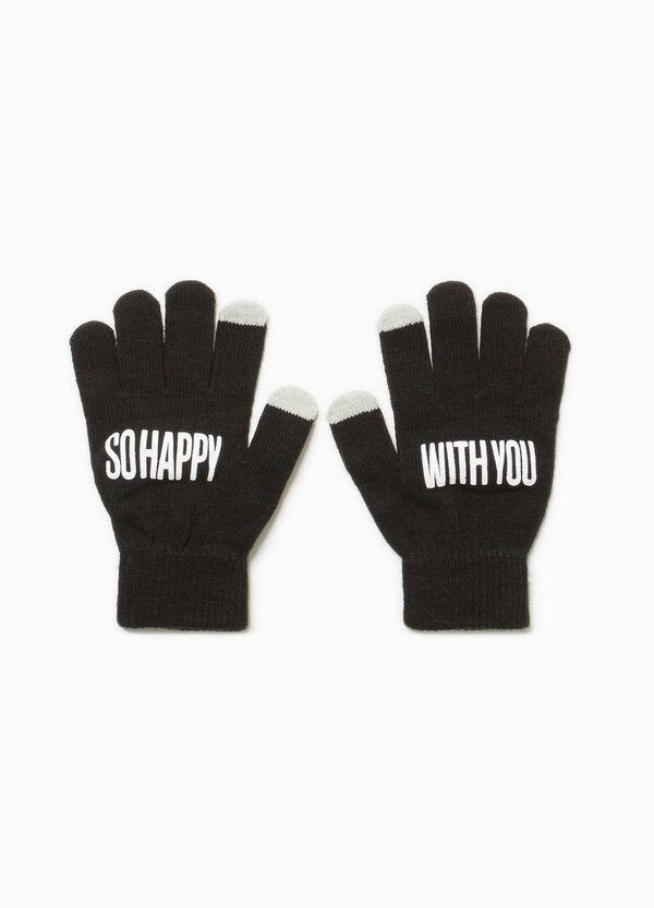 Touchscreen-Handschuhe mit Buchstabenaufdruck | OVS