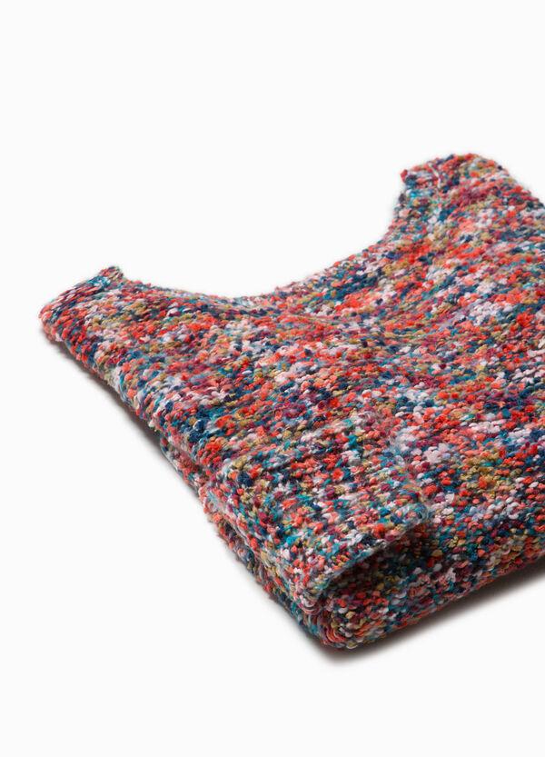 Pullover Trikot-Verarbeitung mit Schlitzen