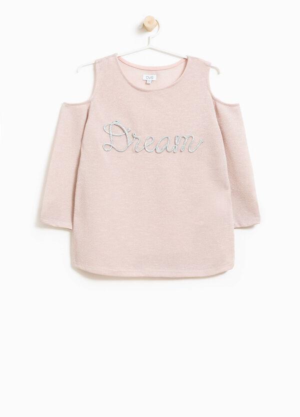 Glitter-T-Shirt mit Öffnung auf den Schultern | OVS