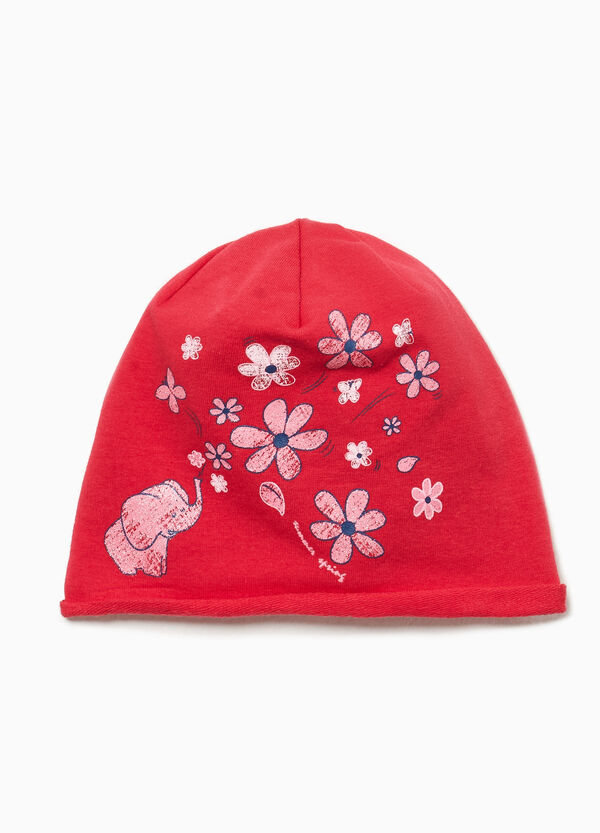 Mütze aus Jersey bedruckt