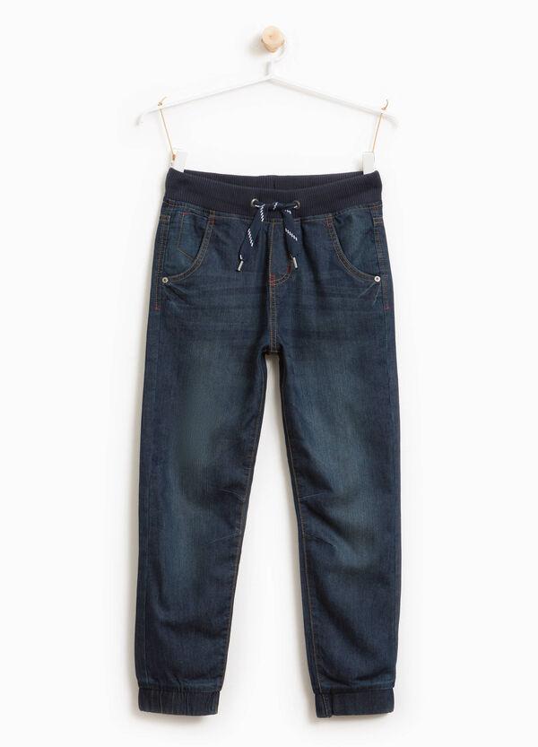 Jeans Used-Effekt mit Kordelzug | OVS