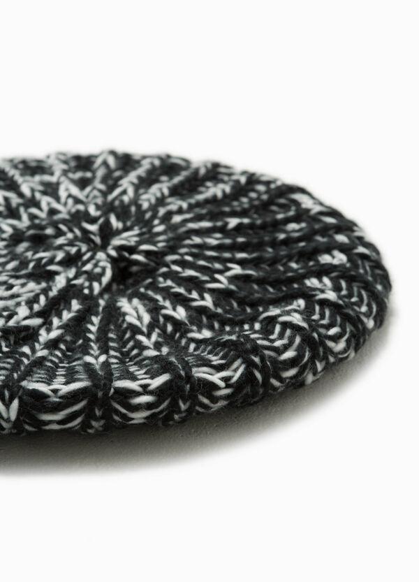 Baskenmütze zweifarbig Flechtoptik | OVS