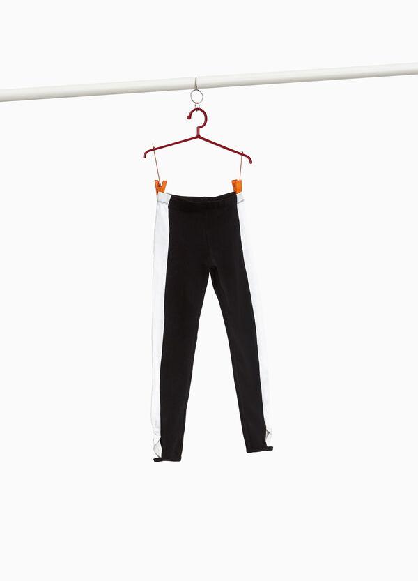 Stretch-Leggings Baumwolle mit Überkreuzung