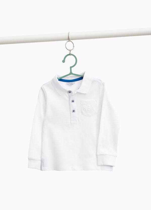 Einfarbiges Polo-Shirt aus reiner Baumwolle