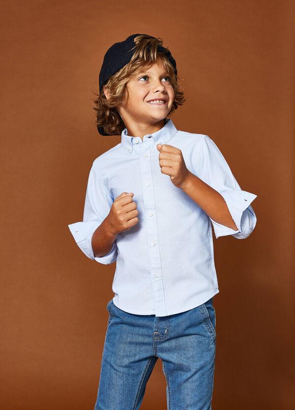 Hemd aus reiner Baumwolle Button-down-Kragen | OVS