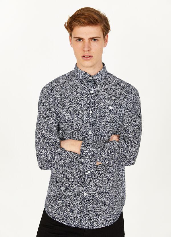 Freizeithemd reine Baumwolle Muster