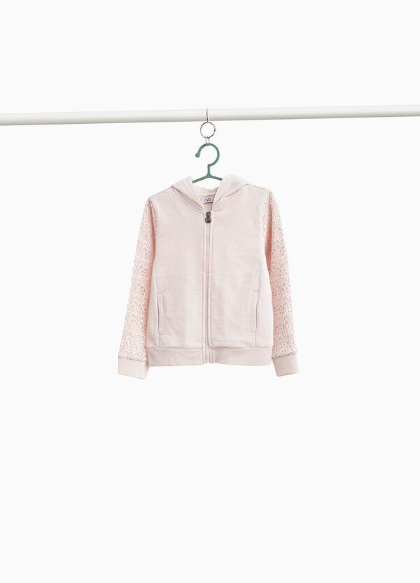 Sweatshirt reine Baumwolle mit Spitze