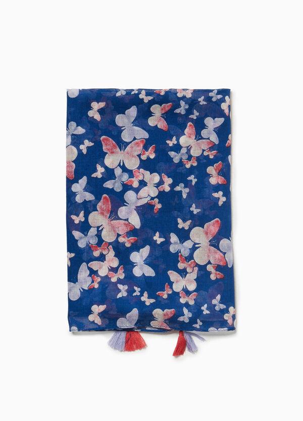 Pashmina Muster Schmetterlinge Quasten