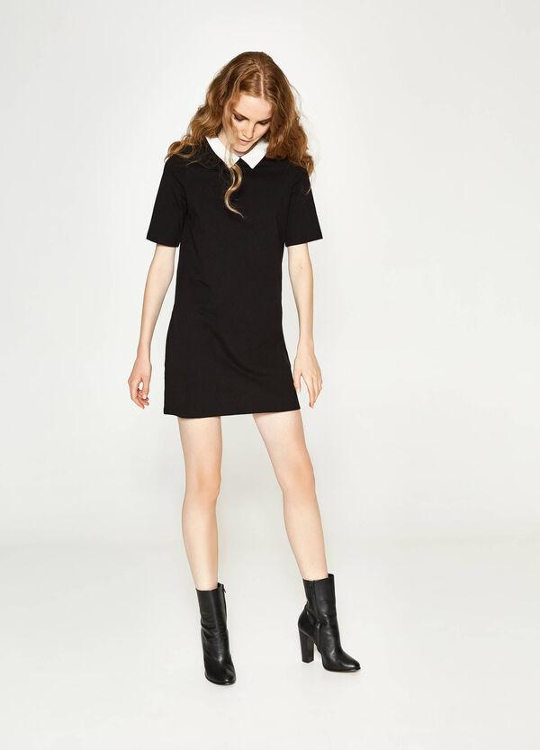 Kleid aus reiner Baumwolle mit Kragen | OVS