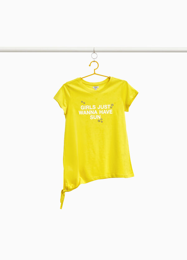 T-Shirt Aufdruck Lettering mit Ösen