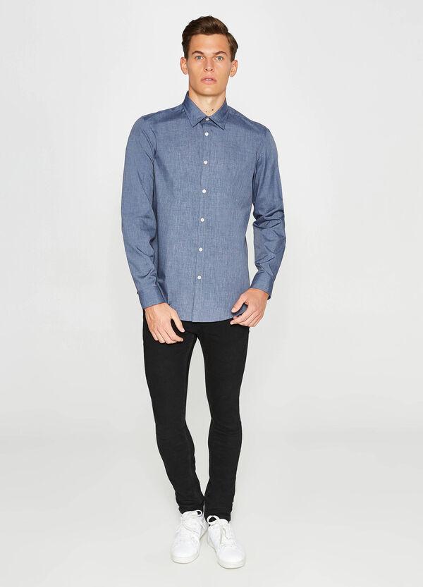 Lässiges Hemd Slim Fit einfarbig | OVS