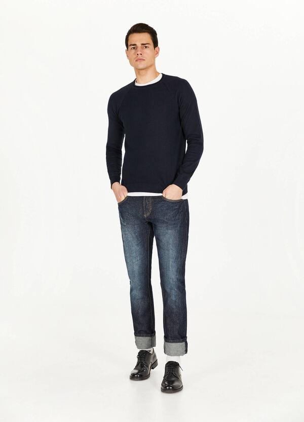 Pullover reine Baumwolle gestreift