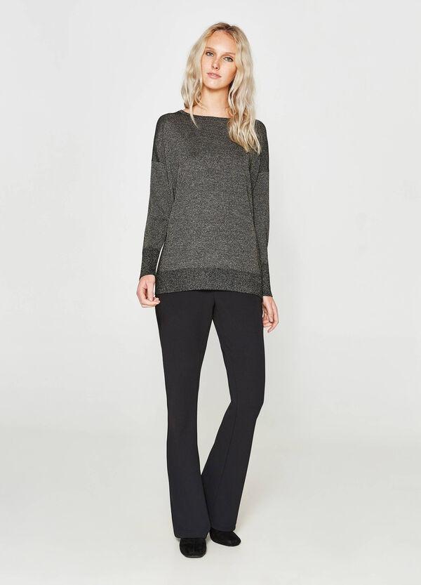 Pullover aus Viskose mit Lurex