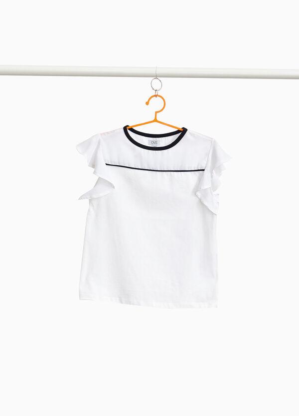 T-Shirt aus reiner Baumwolle mit Falten