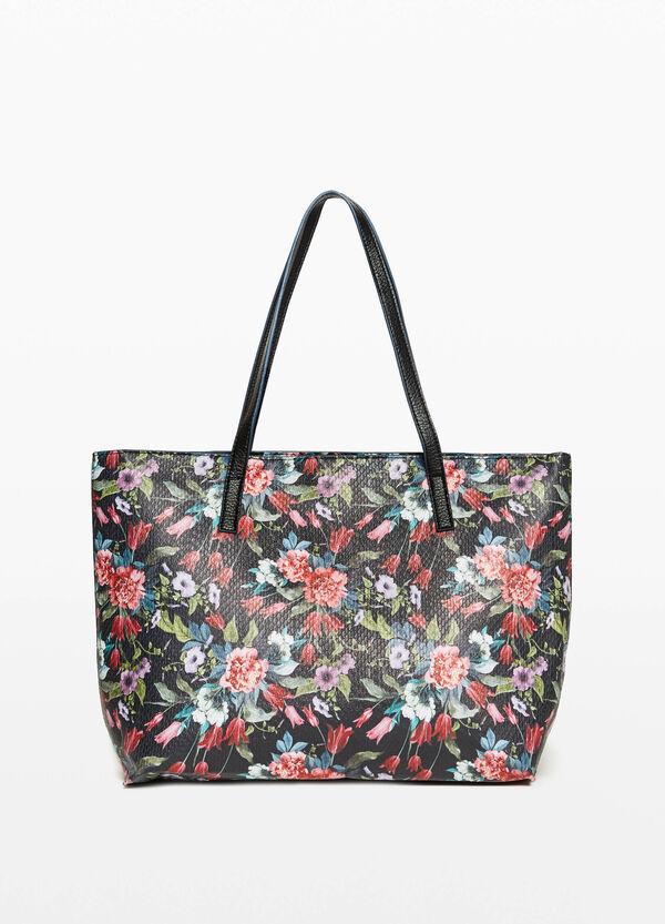 Shopping-Tasche mit Blumenaufdruck