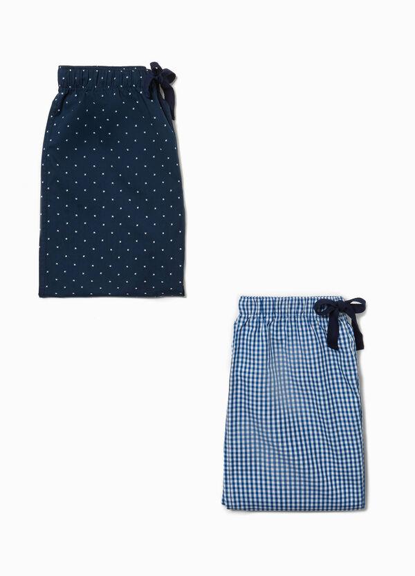 Set aus zwei Pyjamahosen Muster