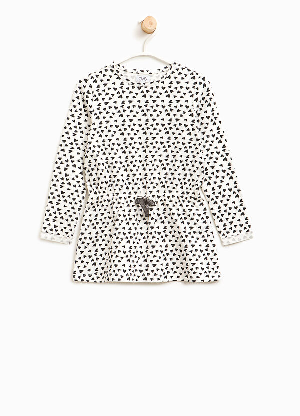Langes T-Shirt Muster aus Baumwolle   OVS