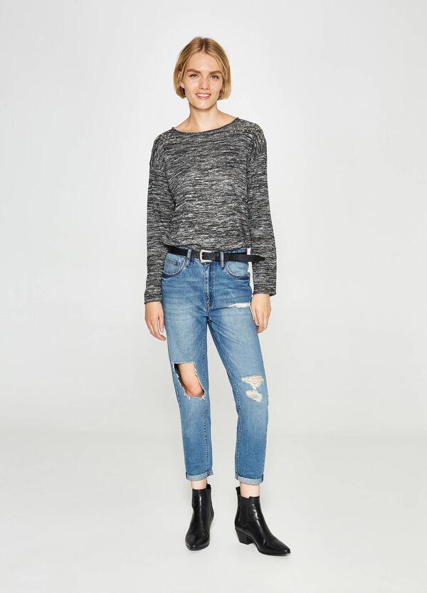 Jeans Boyfriend Fit mit Used-Effekt und Rissen | OVS