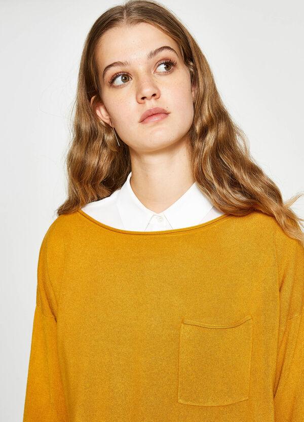 Pullover mit Schlitzen und Tasche | OVS