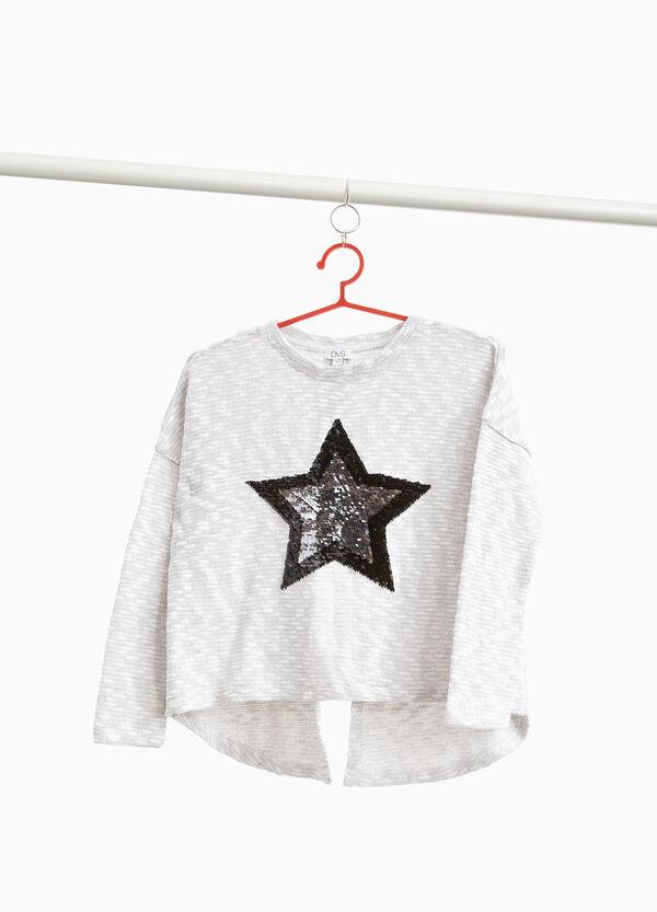 Pullover aus Baumwollmix mit Patch