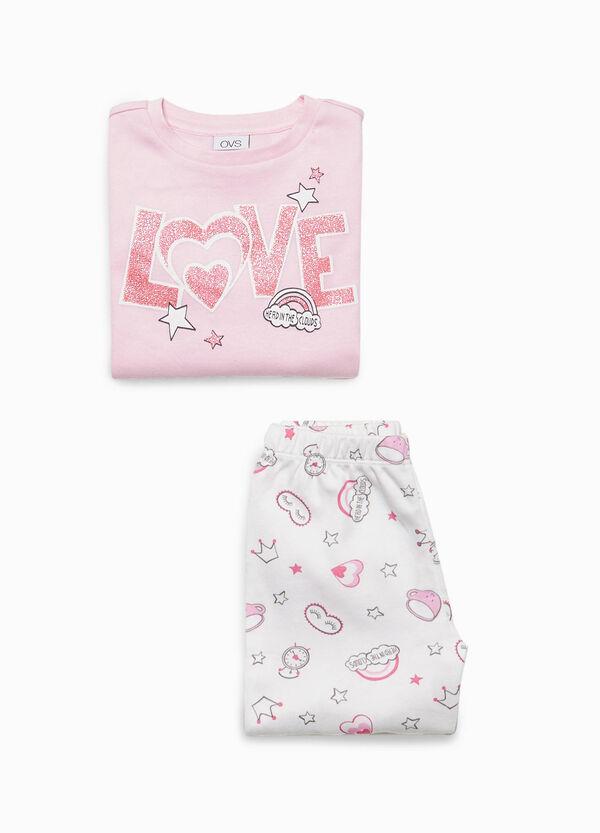 Pyjama Baumwolle Aufdruck und Muster