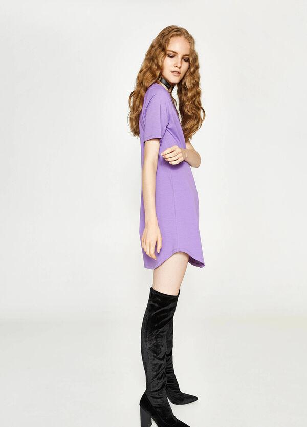 Kleid aus Baumwolle mit kurzen Ärmeln | OVS